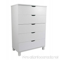 Y1106 Smart Home Attwell Modern Bedroom Furniture (One Size  White 5 Drawer Chest) - B071GDPF5Q