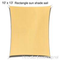 10' x 13' Rectangle Sand Sun Shade Sail Durable UV Block Shelter Canopy Cover for Outdoor Patio Deck Garden LawnYard - B07F2X5L8L