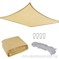13x10FT Outdoor Patio Rectangle Sun Sail Shade Cover Canopy Top Shelter  Rope - B00WEDEBWO