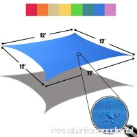 Alion Home 12' x 12' Waterproof Woven Sun Shade Sail in Vibrant Colors (Royal Blue) - B01MY5DE9H