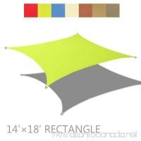 Alion Home 14' x 18' Rectangle PU Waterproof Woven Sun Shade Sail (1 Pear Green) - B07982GFSJ