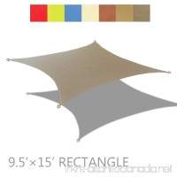 Alion Home 9.5' x 15' Rectangle PU Waterproof Woven Sun Shade Sail (1  Muddy Water) - B0797ZNNJC