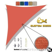 Alion Home Custom Sized Sun Shade Sail with 6'' Stainless Steel Hardware Kit - Right Triangle (13' x 13' x 18.4'  Terracota Red) - B01N6WYXI7