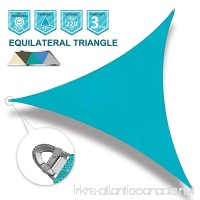 Coarbor 24'x24'x24' Sun Shade SaiL Triangle Wire Rope Hemmed All Edges Strong Double Stitched Seam Super Heavy Duty Perfect for Patio Deck Yard Garden-Turquoise Green - B07BMP2YHV