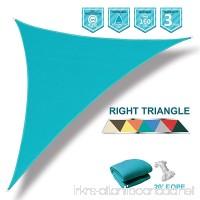 Coarbor 8'x8'x11.3' Right Triangle Light Green UV Block Sun Shade Canopy Perfect for Patio Yard Deck Outdoor Garden - B07B7KS4BQ