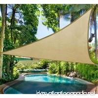DLZY COOL Shade Sail porch shades knitting Sun Shade Sail garden sails 13' 13' 13' (sand) - B0798RLNNH