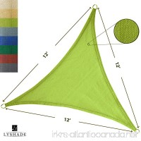 LyShade 12' x 12' x 12' Triangle Sun Shade Sail Canopy (Lime Green) - UV Block for Patio and Outdoor - B01M749OE2