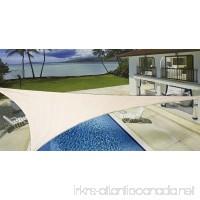 New ProSource Sand Color 16' Oversized Sun Shade Sail Shade canopy Sun Shelter - B001WAD9PU