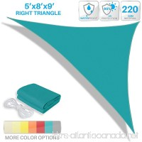 Patio Paradise 5' x 8' x 9.4' Waterproof Sun Shade Sail-Turquoise Green Triangle UV Block Durable Awning Canopy Outdoor Garden Backyard - B078HK7PWV