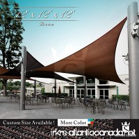 Royal Shade 12' x 12' x 12' Brown Triangle Sun Shade Sail Canopy Outdoor Patio Fabric Shelter Cloth Screen Awning - 95% UV Protection  200 GSM  Heavy Duty  5 Years Warranty  Custom - B07DCK3F1M