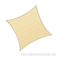 Sunlax 17' x 17' Sand Color Square UV Block Sun Shade Sail Canopy for Patio and Outdoor - B075S2Y3Q1