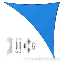 Sunlax 17' x 17' x 23' Blue Color Right Triangle UV Block Sun Shade Sail Canopy with Stainless Steel Hardware Kit for Patio and Outdoor - B075RWB5ND