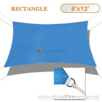 Sunshades Depot 8' x 12' Sun Shade Sail Rectangle Permeable Canopy Ice Blue Custom Size Available Commercial Standard - B01KW9FH88
