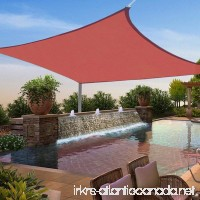 Yescom 12x12' Square Sun Shade Sail Top Outdoor Canopy Patio Cover Red - B00XVNJEIW