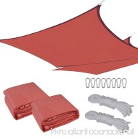 Yescom 2 Pcs 16x16' Square Sun Shade Sail Top Outdoor Canopy Patio Cover Red - B00XVNJCDO