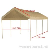 10X20 Heavy Duty Beige Canopy Top Cover with Valance - B06ZYFCQFW