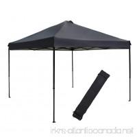 Abba Patio Pop Up Instant Folding Canopy  10 x 10-Feet  Dark Grey - B01MU7JZKK