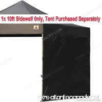 ABCCANOPY 15+colors 10' Sun Wall for 10'x 10' straight leg pop up canopy Tent 10' Sidewall kit (1 Panel) with Truss Straps (Black) - B01D71ODCE