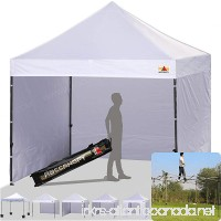 ABCCANOPY (18+colors) 8ft by 8ft Ez Pop up Canopy Tent Commercial Instant Gazebos with 4 Removable Sides and Roller Bag and 4x Weight Bag (white) - B014H23DCI