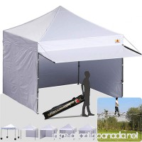 ABCCANOPY (20+colors 10x10 Easy Pop up Canopy Instant Shelter Commercial Portable Market Canopy with Matching Sidewalls  Weight Bags  Roller Bag BOUNS Canopy awning (white) - B01DZS0PA8
