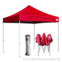 Eurmax Basic 10x10 EZ Pop Up Canopy Tent Entry Commercial Level with Roller Bag (Red) - B00FF34A9O