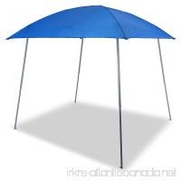 PHI VILLA Portable Beach Sun Shade Pop-up Canopy Tent Slant Leg 8' x 8' 64 Sq. Ft of Shade Blue - B07C1M1PR1