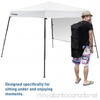 Portable Backpack Tent - 7'x7' Base with 6'x6' Awning Top - Lightweight for Hiking Camping Beach Sports Baby Tent and Family Outings - Pop Up Canopy - B01M66BISZ