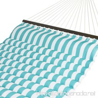 Best Choice Products Plush Quilted Double Hammock w/Spreader Bars - Teal/White - B01EIPKIO0