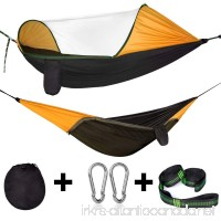 Cambond Camping Hammock with Mosquito Net  Portable Parachute Lightweight Hanging Hammocks with Tree Straps Travel Hammock Tent Bed for Outdoor Backpacking Hiking Beach Fishing Backyard - B07C3P7BZ8