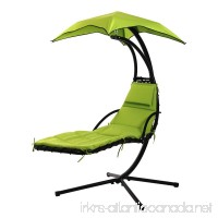 FDW Hanging Chaise Lounger Chair Arc Stand Air Porch Swing Hammock Chair Canopy - B01HB4ZAOI