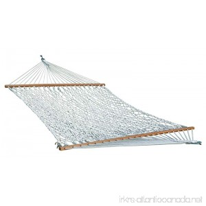 Home & More 123H00960156R Double Hammock (Cotton Rope - White) 5' x 13' - B07FCRW9YC