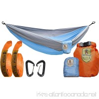 Koala Portable Camping Hammock Bed Bundle: 2 Person  2-Hanging Straps  2-Carabiners  Stuff Sack  Dry Bag Holds up to 400 Pounds - B01E2YE3ZC
