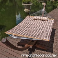 Lazy Daze Hammocks 55 Double Quilted Fabric Hammock Swing with Pillow (Romantic Coffee Bean) - B01LAR80C6