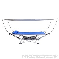 Mac Sports Portable Fold Up Hammock with Removable Canopy & Carry Case - B01CRA0JBK