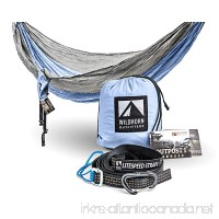 Outpost Double/Single Camping Hammock With 11' Tree Straps - 100% Parachute Nylon - Cinch Buckle Design No Knots Required - Easiest Hammock To Hang - B01255VFCE