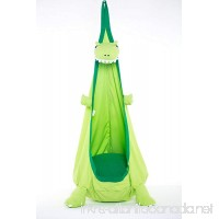 Papa Roo Dinosaur Child Pod Swing Chair Nook Animal Tent 100% Cotton Hanging Seat Hammock Nest for Indoor Outdoor Bedroom (green) - B07D1GLTT6