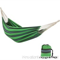 Sunnydaze Brazilian Double Hammock  2 Person Portable Bed  Hand Woven Cotton - For Indoor or Outdoor Patio  Yard  and Porch (Midnight Jungle) - B00OP9DI0G