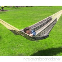 Sunnydaze Mayan Family Hammock Hand-Woven XXL Thick Cord 880 Pound Capacity Black/Natural - B00F59TVT2