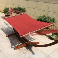 TOUCAN OUTDOOR 55 Inch Caribbean Rope Hammock  Red - B07CM623ZD