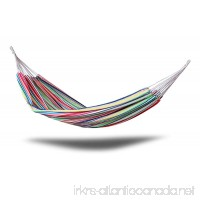 Ultranatura Brazilian Double Hammock - Portable 2 Person Camping Hammock for Backpacking Hiking Travel Beach Patio Yard. 330lbs Heavy Duty Hanging Swing Bed. 83(L) x 59(W) - Colorful Stripes - B07FDS6PM5