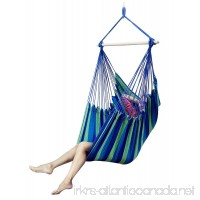 E EVERKING EverKing Large Brazilian Hammock Chair - Quality Cotton Weave for Superior Comfort & Durability - Extra Long Bed - Hanging Chair for Yard  Bedroom  Porch  Indoor  Outdoor - B06XPXBDLT