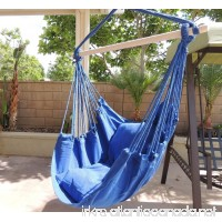 Hammock Chair Hanging Rope Chair Porch Swing Outdoor Chairs Lounge Camp Seat At Patio Lawn Garden Backyard Blue - B0177C3PGO