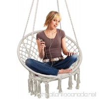 Hammock Chair Macrame Swing Hanging Chair for Reading/Leisure 330 Pound Capacity Perfect for Indoor/Outdoor Home Garden Deck Yard - B07BQ9SD2Y