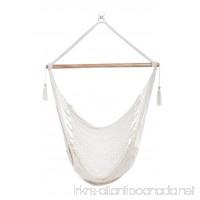 Handmade Hanging Rope Hammock Chair - 100% Handmade With Organic Cotton Swing Seat - Socially Positive! (White) - B015JJTHKU