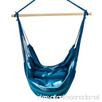 Lelly Q Hammock Chair Hanging Swing Chair Seat for The Living Room Yard Garden Balcony - Max. 265 Lbs -2 Seat Cushions Included (Blue Stripes) - B07C78BDXV