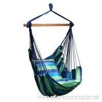 Number-One Hanging Hammock Chair Swing Hanging Rope Swing Chair Porch Swing Seat with 2 Seat Cushions for Indoor and Outdoor Use Max Weight: 265 Pounds - B06XWCY5Z5