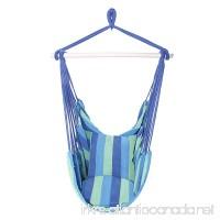 OnCloud Hanging Hammock Chair Porch Swing (Blue) - B071XL9YFD
