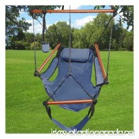 Outdoor/Indoor Hammock Hanging Chair Air Deluxe Swing Chair Solid Wood 250lb - B01I9VCZW2