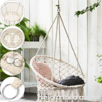 TFCFL Woven Hanging Cotton Rope Macrame Hammock Mesh Chair Basket Swing Outdoor Garden (Hammock chair with accessories) - B07BQLH7N1