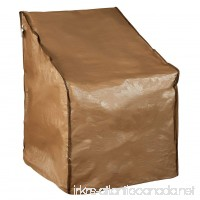 Abba Patio Water Resistant Lounge Chair Cover 31 L x 27.5 W x 40 H Brown - B01H38ON7M